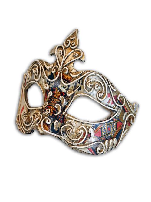 Venetian mask Colombina Carte