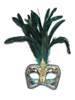 Authentic Venetian Mask Colombina Cordone Piume