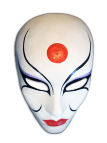 Authentic Venetian mask Volto Kabuki Scarab