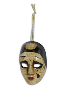 Venetian Mini Commedia Dell'Arte Mask Ornament Pierrot