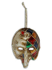 Venetian Mini Commedia Dell'Arte Mask Ornament Pulcinella