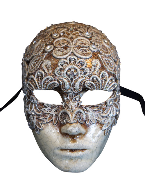 Authentic Venetian mask Volto Mac Craquele