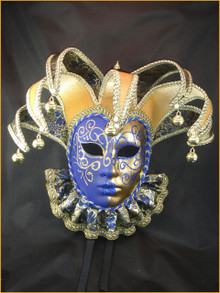 Venetian mask Jolly Brocade Bib