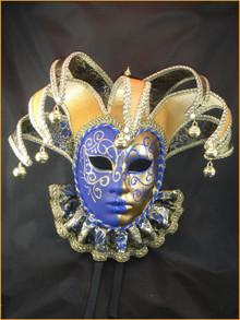 Venetian mask Jolly Brocade Bib