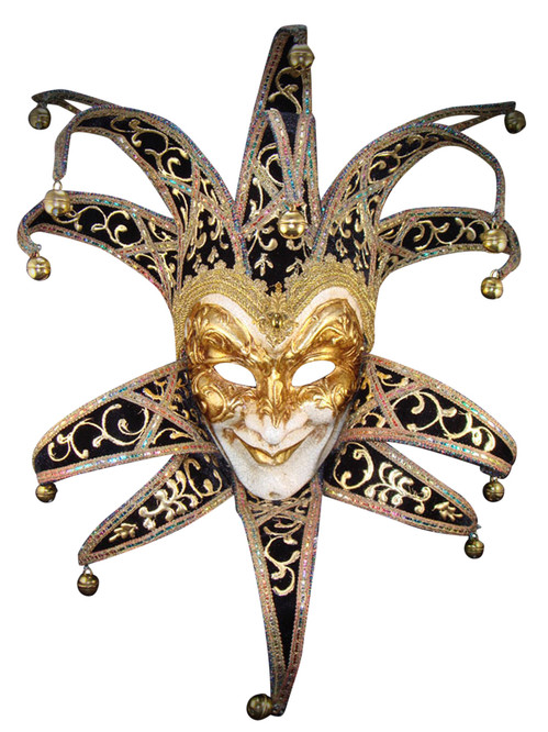 Venetian mask Jester Velutto Lux