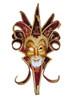 Venetian mask Jester Trinity Lux