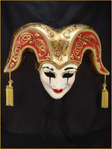 Venetian mask Jester Bell