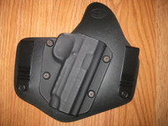 GLOCK IWB standard hybrid leather\Kydex Holster (Adjustable retention)