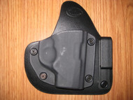 KAHR IWB appendix carry hybrid Leather/Kydex Holster (adjustable retention)