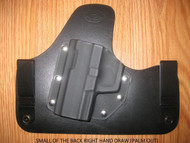 KAHR IWB SOBR (small of the Back) hybrid Leather\Kydex Holster (fixed retention)