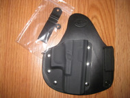 Ruger IWB appendix carry hybrid Leather/Kydex Holster (fixed retention)