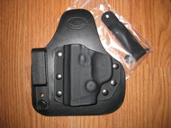 SMITH & WESSON IWB appendix carry hybrid Leather/Kydex Holster (fixed retention)