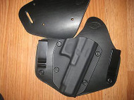IWB / OWB combo holster Kydex/Leather Hybrid Holster with adjustable retention