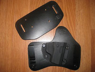 KAHR IWB/OWB combo Kydex/Leather Hybrid Holster with adjustable retention