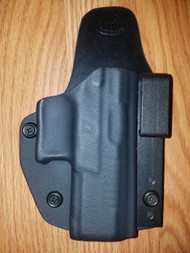 Ruger AIWB Kydex/Leather Hybrid Holster small print with adjustable retention