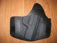 Ruger IWB Kydex/Leather Hybrid Holster with adjustable retention