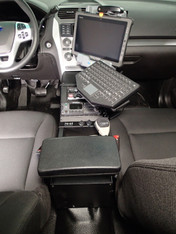 C-VS-0812-INUT-1, Vehicle specific Angled console for 2013-2016 Ford Interceptor Utility police vehicle