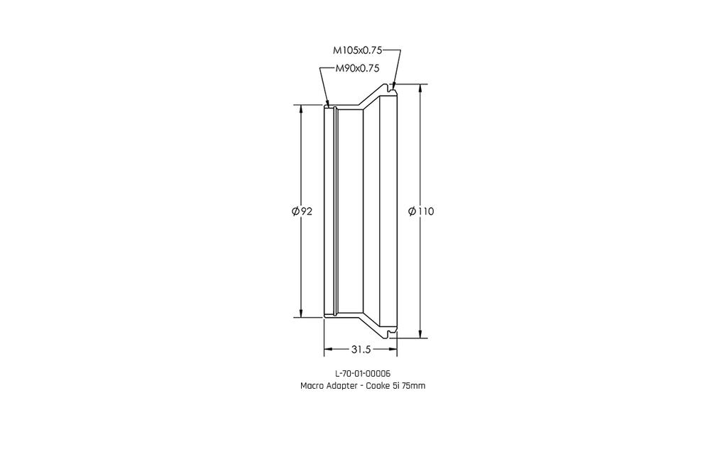 Macro Adapter - Cooke 5i 75mm