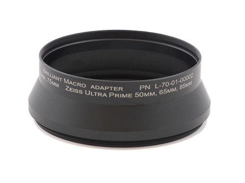 Brilliant Adapter  M100 x 0.75 x 37.5L   Zeiss Ultra Prime 50mm - 85mm - Schneider Xenar 75mm & 95mm