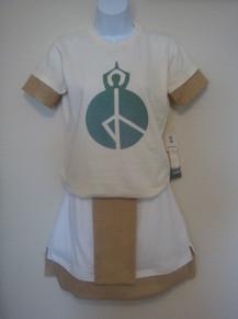 Style #4456 Eco Organic T-shirt w/yoga-peace print