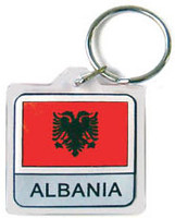 Albania Flag Key Chain