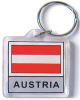 Austria Flag Key Chain