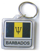 Barbados Flag Key Chain