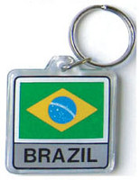 Brazil Flag Key Chain