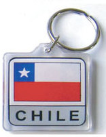 Chile Flag Key Chain