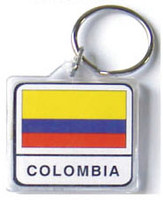 Columbia Flag Key Chain