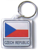 Czech Republic Flag Key Chain