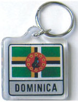 Dominica Flag Key Chain