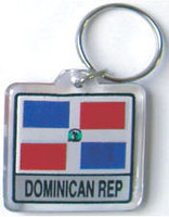 Dominican Republic Flag Key Chain