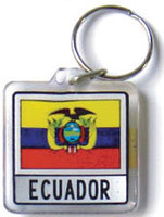 Ecuador Flag Key Chain