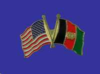 Afghanistan/USA Flag Pin