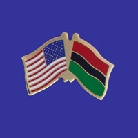 Afro-American/USA Flag Pin