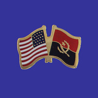 Angola/USA Flag Pin
