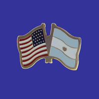 Argentina/USA Flag Pin (With Seal)