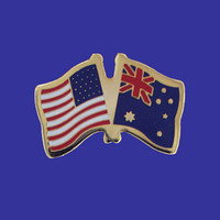 Australia/USA Flag Pin