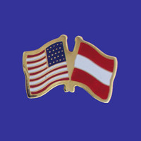 Austria/USA Flag Pin