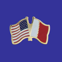 Bahrain/USA Flag Pin