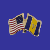 Barbados/USA Flag Pin
