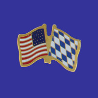 Bavaria/USA Flag Pin
