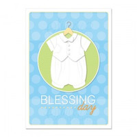 Baby Boy Blessing Day Card