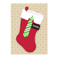 Elder Christmas Stocking Card
