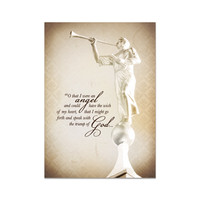 """O that I were an Angel"" Greeting Card"