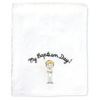 My Baptism Day Boy Towel Blonde