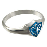 Blue Sparkle CTR Ring