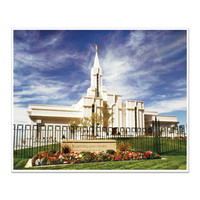 Bountiful Utah Temple with Flowers 16X20 Print