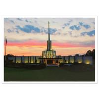 Atlanta Georgia Temple Dusk 3x4 Print